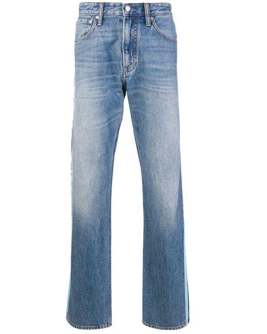 Calvin Klein Blue Stripe Panel Jeans for men
