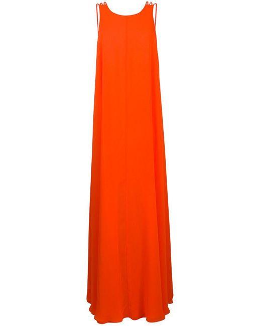 Halpern ノースリーブ ドレス Orange