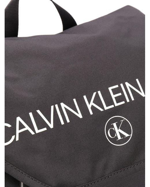 Sac à dos à logo imprimé Calvin Klein pour homme en coloris Black