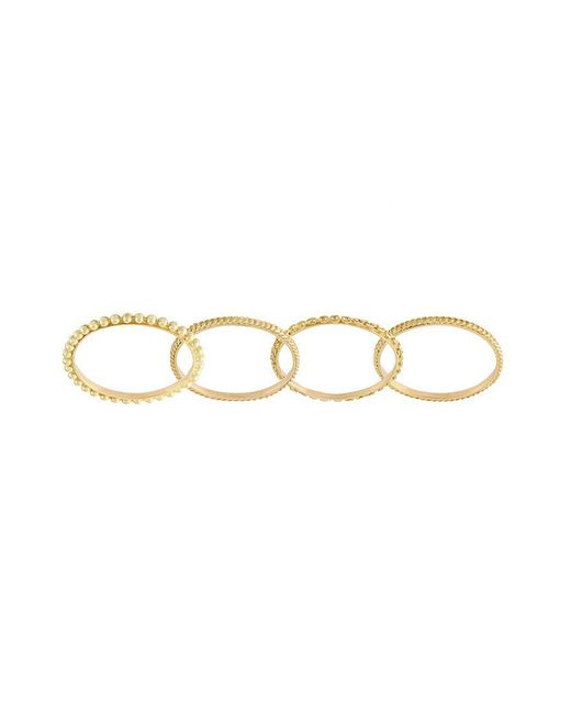 Wouters & Hendrix - Metallic Set Of 4 Sculpted Rings - Lyst
