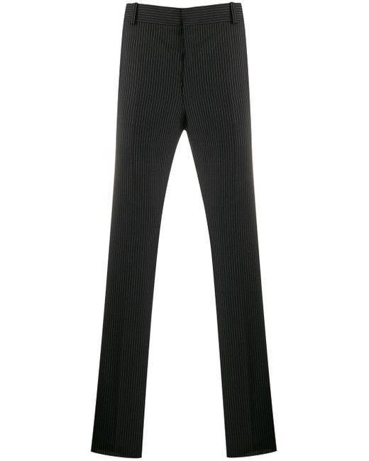 Pantalones de vestir a rayas diplomáticas Alexander McQueen de hombre de color Black