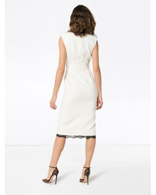 Платье С Контрастной Отделкой Alexander McQueen, цвет: White
