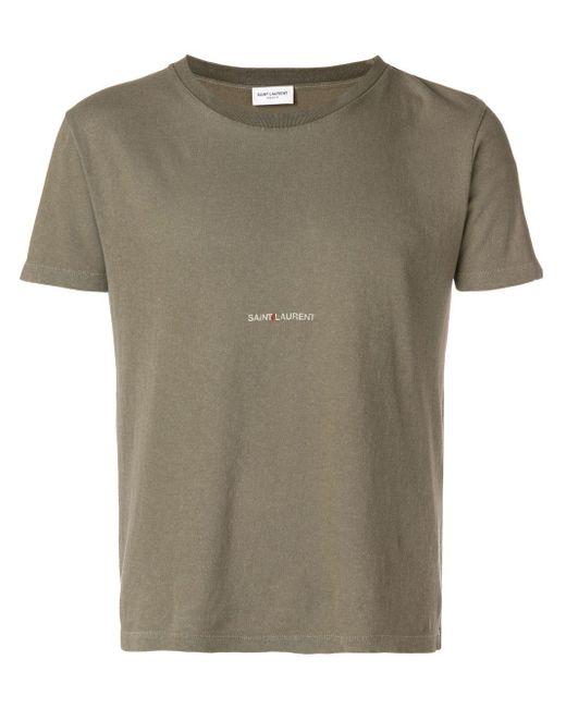 メンズ Saint Laurent ロゴプリント Tシャツ Multicolor