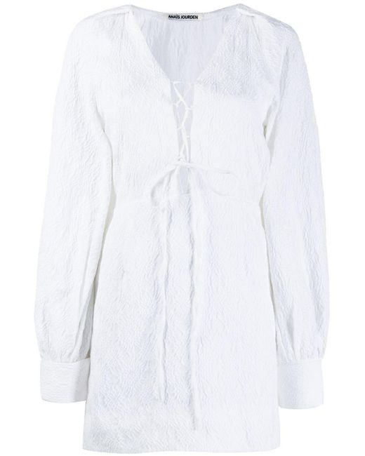 Jourden Lolita オープンショルダー ドレス White