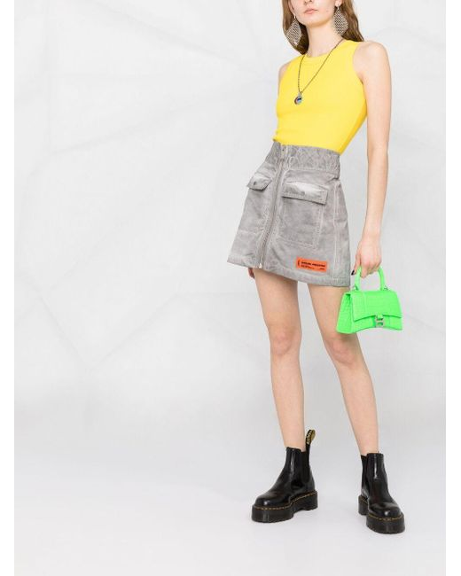 Styland Yellow Fitted Tank Top