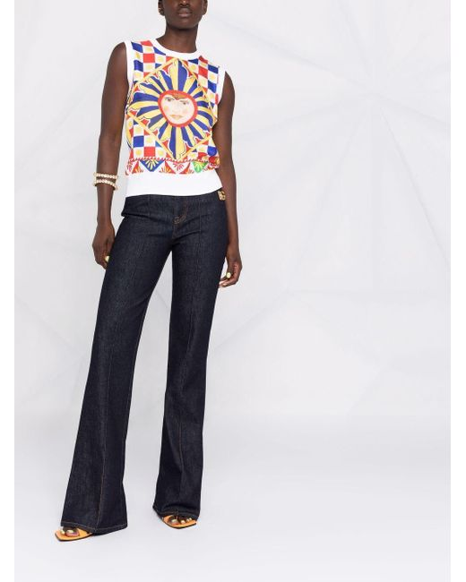 Dolce & Gabbana グラフィック トップ White