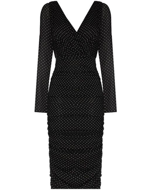 Dolce & Gabbana ポルカドット ドレス Black