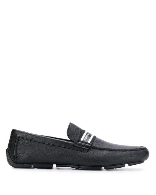 Calvin Klein Loafer mit Logo-Band in Black für Herren