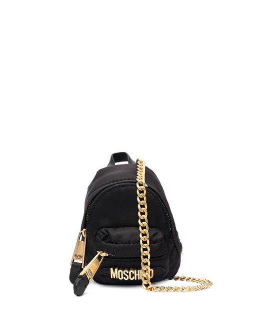Moschino ロゴ ミニバッグ Black