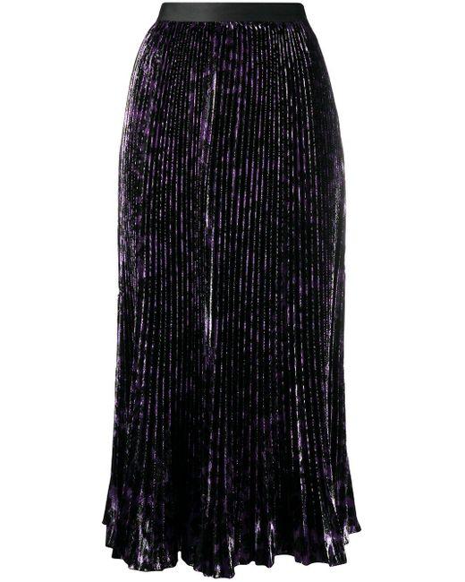 Diane von Furstenberg Brett プリーツ スカート Purple