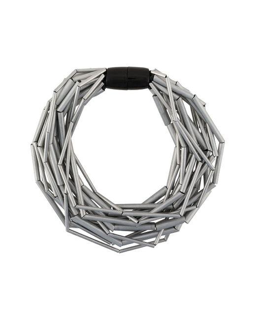 Monies ビーズ ネックレス Metallic