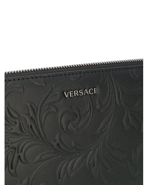 Клатч С Тисненым Логотипом Versace для него, цвет: Black