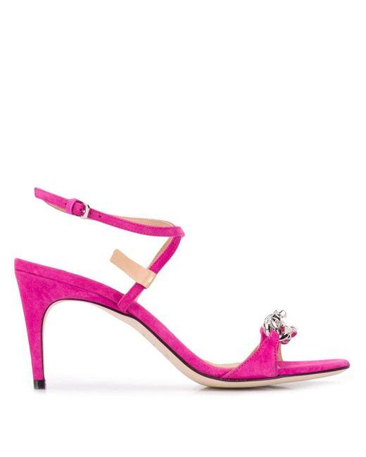 Sergio Rossi バックル サンダル Pink