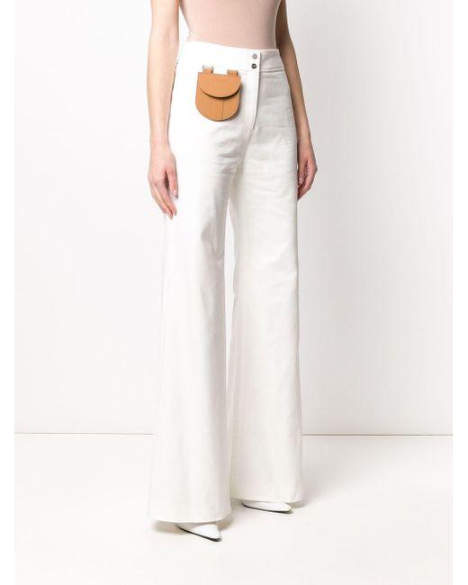 Palm Angels ポケット ワイドパンツ White