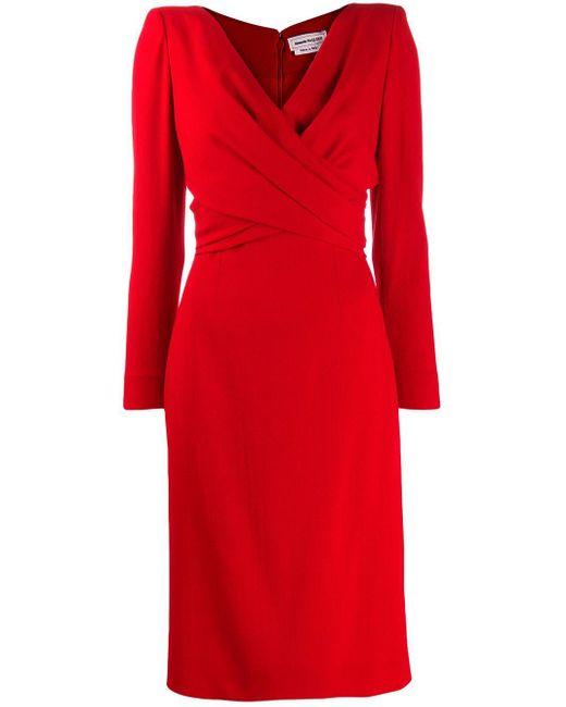 Платье Миди С Драпировками Alexander McQueen, цвет: Red