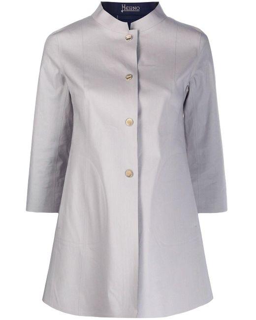 Herno スタンドカラー コート Gray