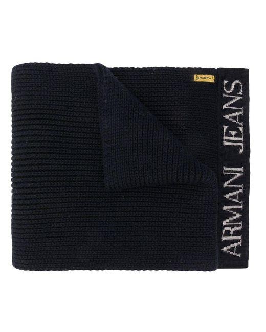 Giorgio Armani Pre-Owned 1990's ロゴ スカーフ Black