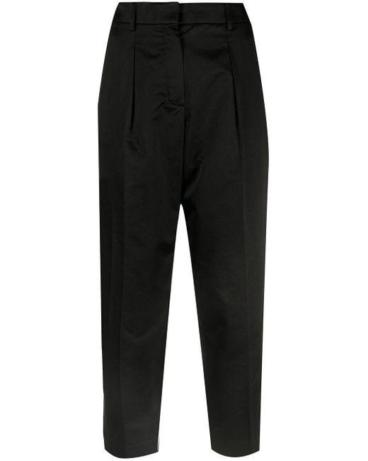 Hermès プレオウンド クロップド テーラードパンツ Black