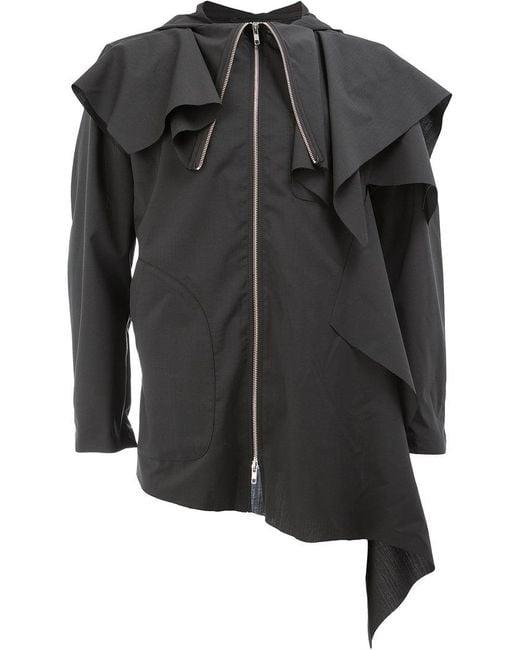Moohong - Black Ruffled Jacket for Men - Lyst