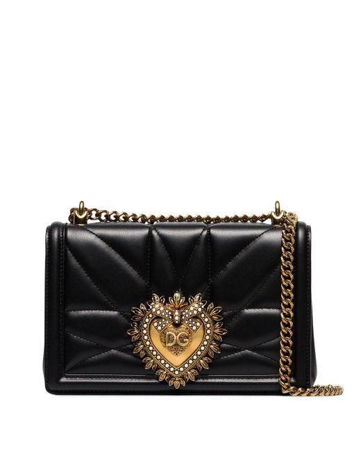 Dolce & Gabbana Devotion ショルダーバッグ M Black
