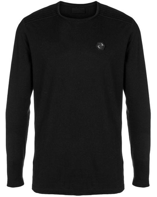 メンズ Philipp Plein ロゴ ロングスリーブ セーター Black