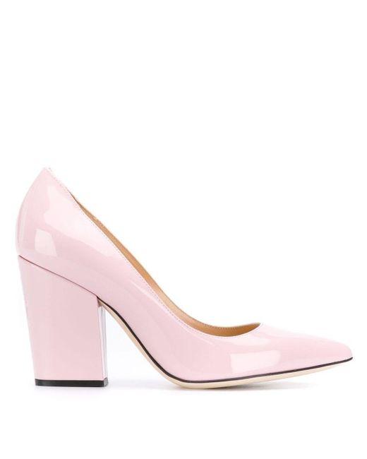 Sergio Rossi ブロックヒール パンプス Pink