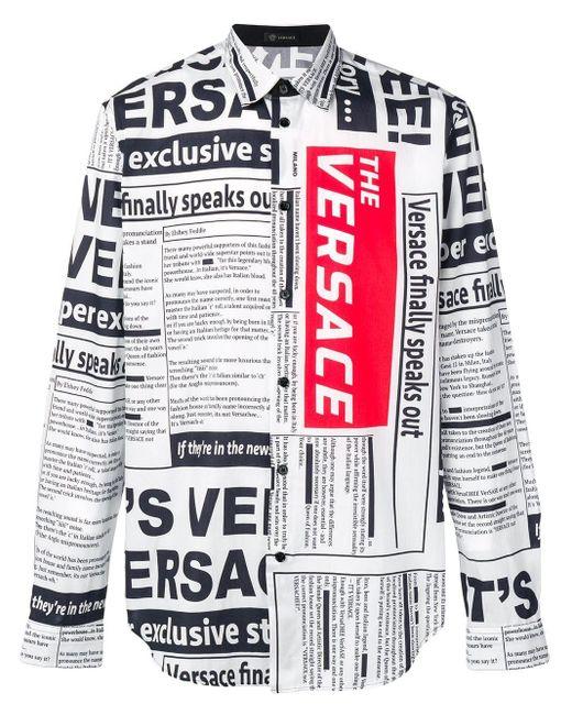 メンズ Versace プリント シャツ Multicolor