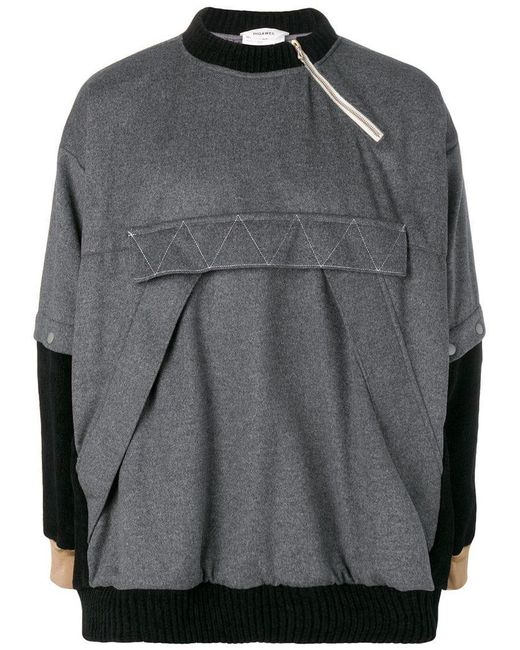 f0aeccb93 Digawel - Gray Front Pocket Sweatshirt for Men - Lyst ...
