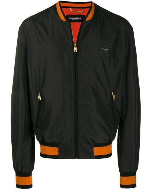 メンズ Dolce & Gabbana ロゴ ボンバージャケット Black
