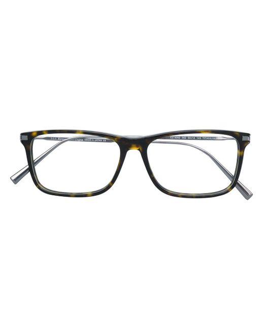 メンズ Ermenegildo Zegna スクエア眼鏡フレーム Multicolor