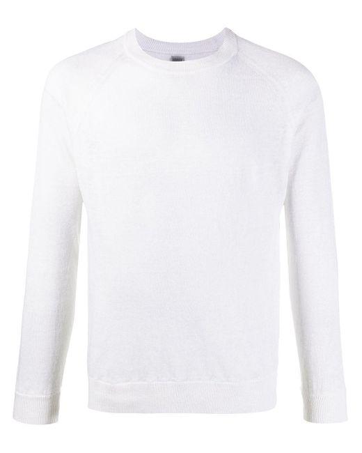 Eleventy Gestrickter Pullover in White für Herren