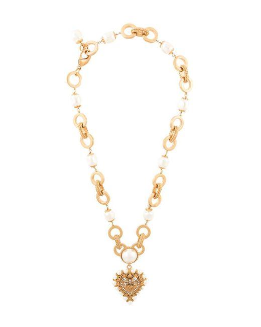 Dolce & Gabbana ハートプレート ネックレス Metallic