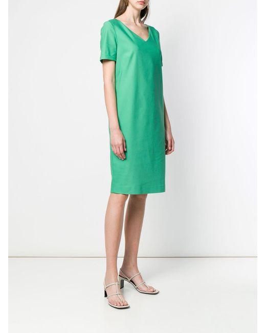 Les Copains Vネック ドレス Green