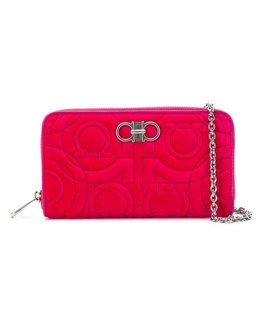 Ferragamo - Pink Quilted Crossbody Bag - Lyst ... 7b6f225da5be0