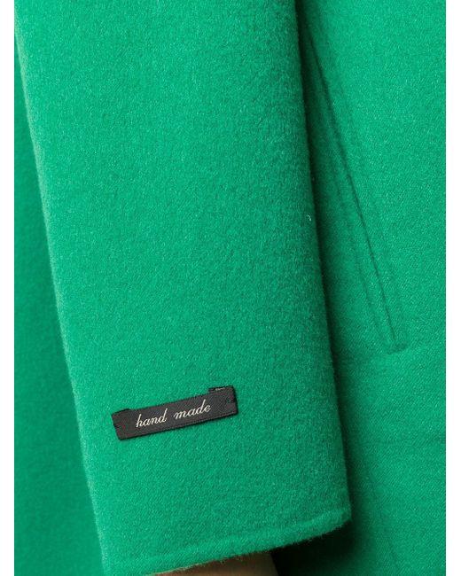 Manzoni 24 ノーカラー コート Green