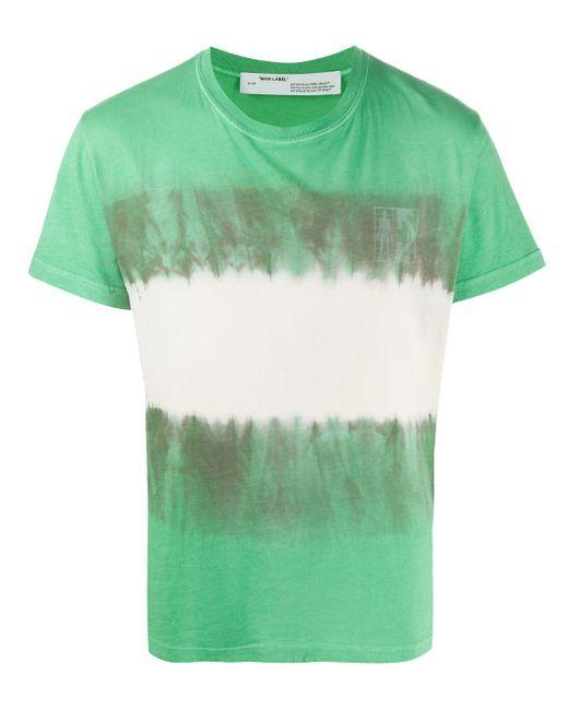 メンズ Off-White c/o Virgil Abloh Arrow タイダイ Tシャツ Green