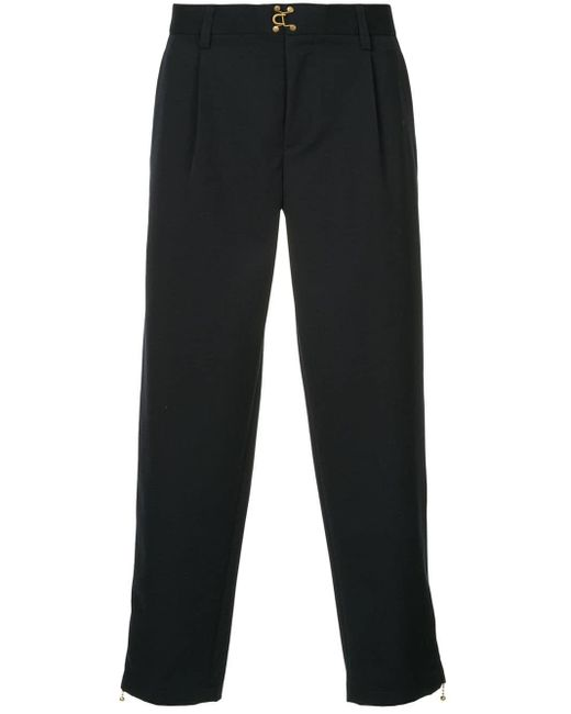 Kolor Blue Cropped Tailored Trousers for men