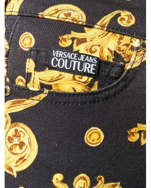 Versace Jeans バロックプリント ジーンズ Black
