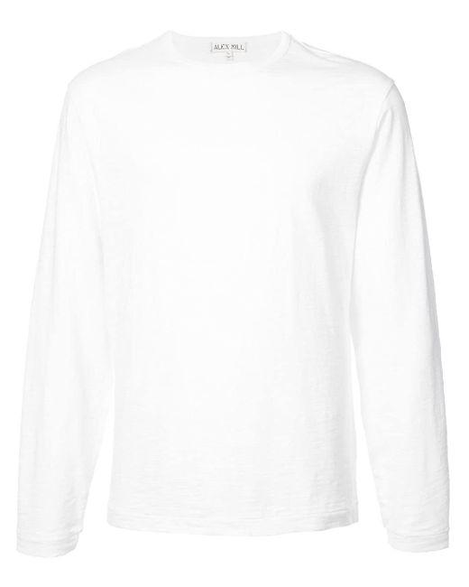 メンズ Alex Mill コットン ロングtシャツ White