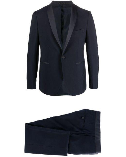 メンズ Tagliatore ウール シングルスーツ Blue