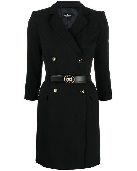 Elisabetta Franchi ダブルジャケットスタイル ドレス Black