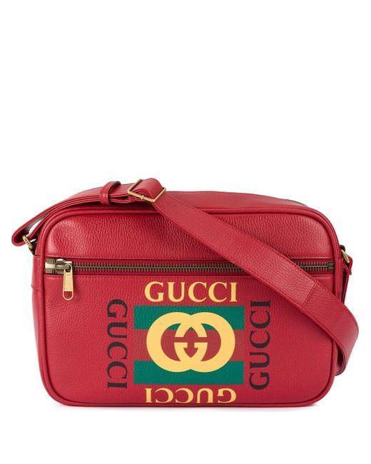 Сумка-мессенджер С Принтом Gucci для него, цвет: Red