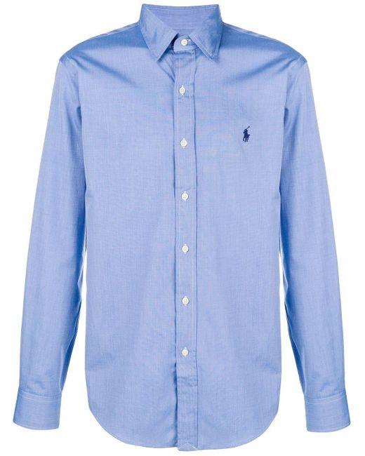 メンズ Polo Ralph Lauren クラシック シャツ Blue