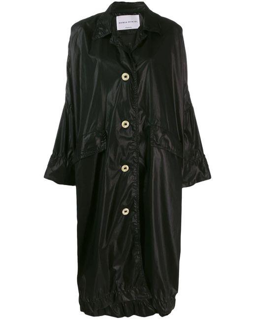 Sonia Rykiel Black Oversized Midi Coat
