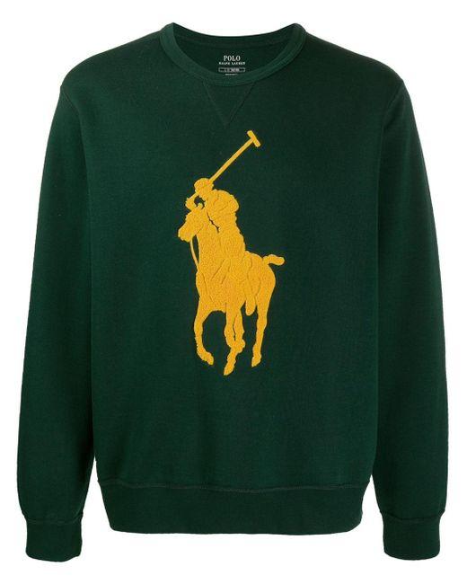 メンズ Polo Ralph Lauren ロゴ プルオーバー Green