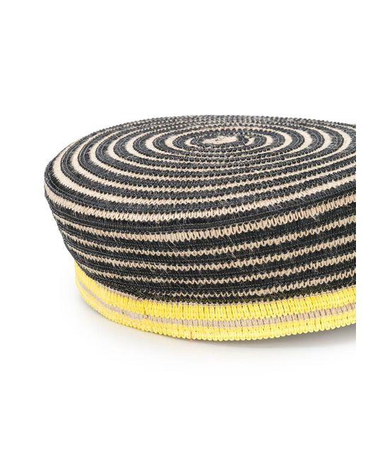 Gorra driver con diseño tejido Maison Michel de color Multicolor