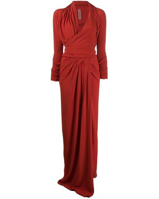 Rick Owens ロングライン ラップドレス Red