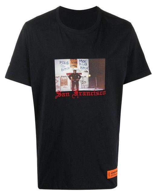 メンズ Heron Preston San Francisco Tシャツ Black