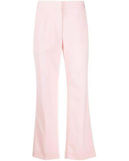 Stella McCartney クロップド テーラードパンツ Pink
