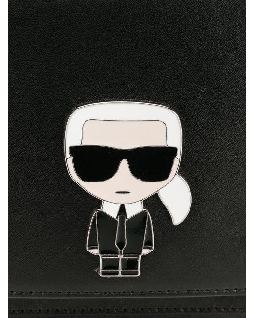 Karl Lagerfeld Karl Ikonik ショルダーバッグ Black